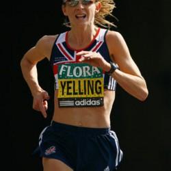 liz yelling 2007 london marathon