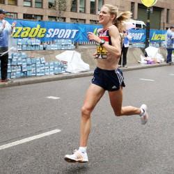 liz yelling 2008 marathon running lucozade